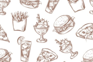 background food menu vector fast seamless packing pattern thehungryjpeg