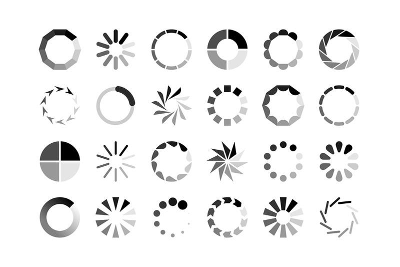 Circle loader. Wait load spinning circle preloader website
