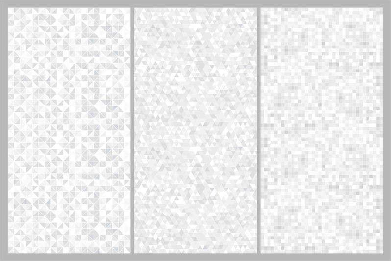 Vector gray seamless mosaic patterns By ExpressShop