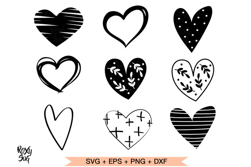 Heart svg, hearts svg, hearts clipart, heart shape svg By