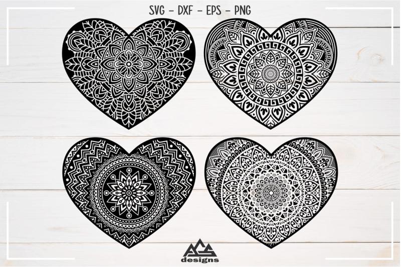 Download Love Heart MANDALA Svg Design By AgsDesign | TheHungryJPEG.com