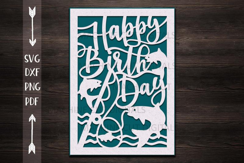 Download Happy Birthday card papercut svg laser cut cricut template ...