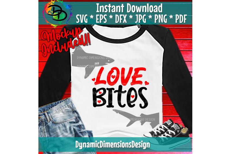 Download Love Bites, Valentine Svg, Boy Valentine Svg, Shark ...