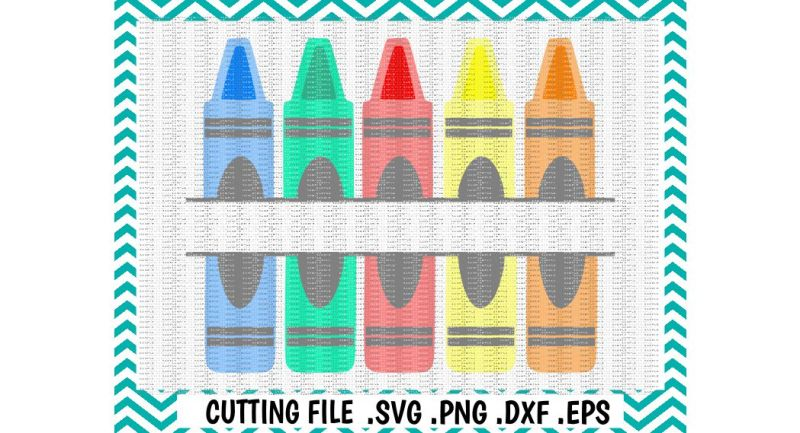 Download Back to School Svg/ Split Crayon Cutting File/ Svg, Dxf ...