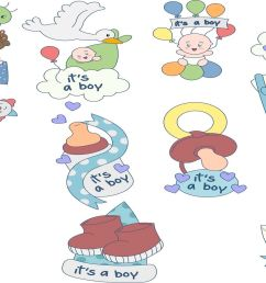 oh my baby boy boy baby shower illustration clipart pack [ 1400 x 933 Pixel ]