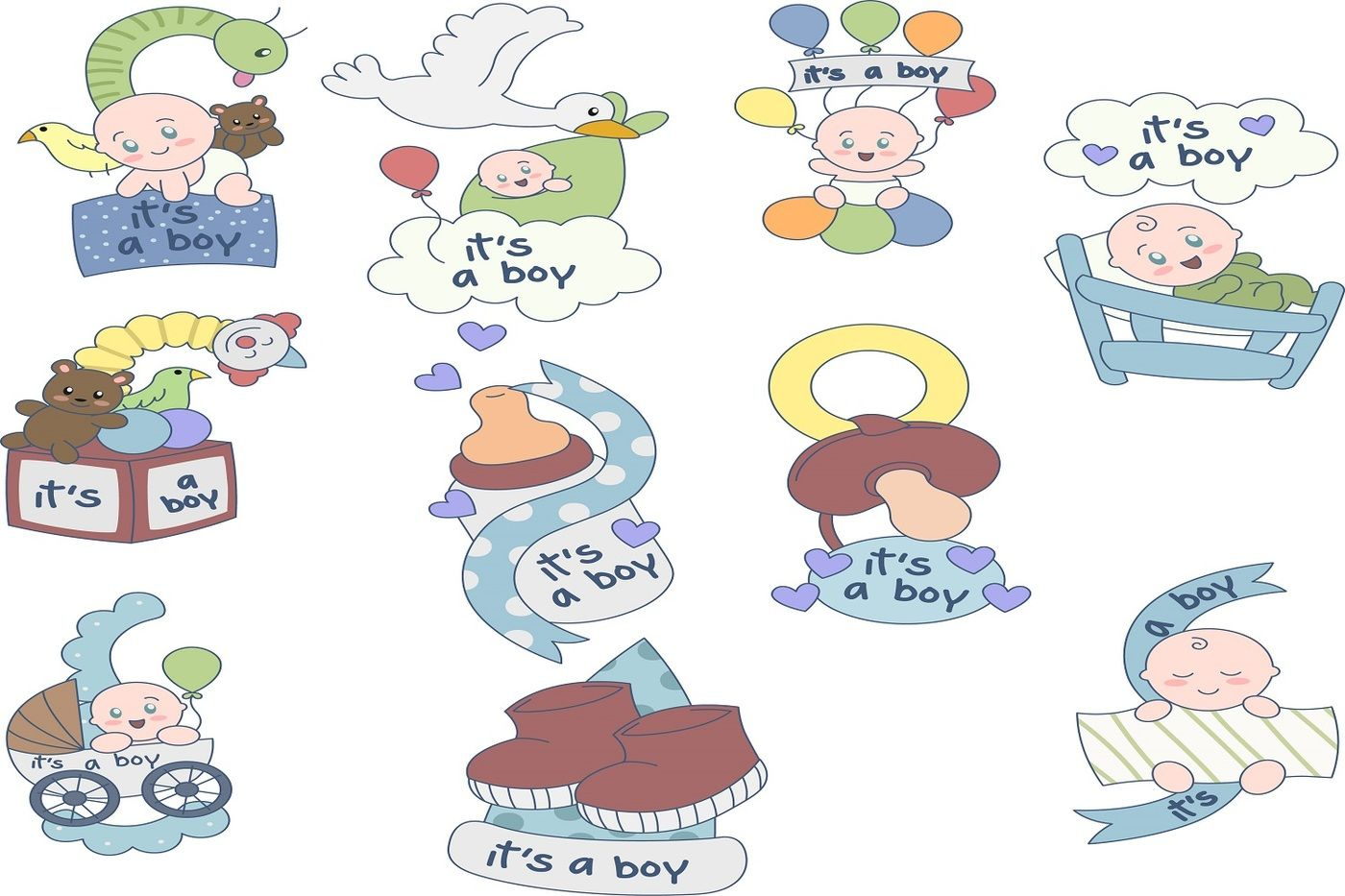 hight resolution of oh my baby boy boy baby shower illustration clipart pack