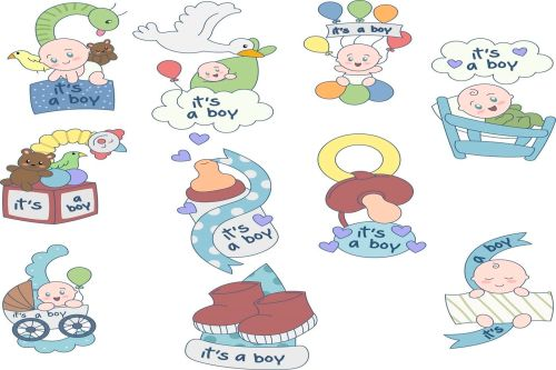 small resolution of oh my baby boy boy baby shower illustration clipart pack