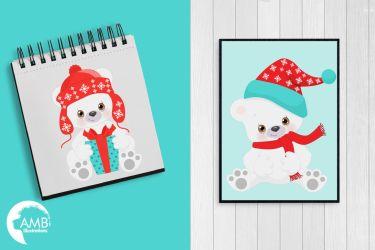 polar bear clipart illustrations graphics 2274 amb thehungryjpeg cart ori