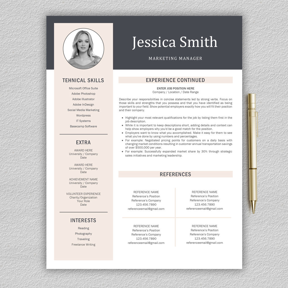 free plug in information resume template