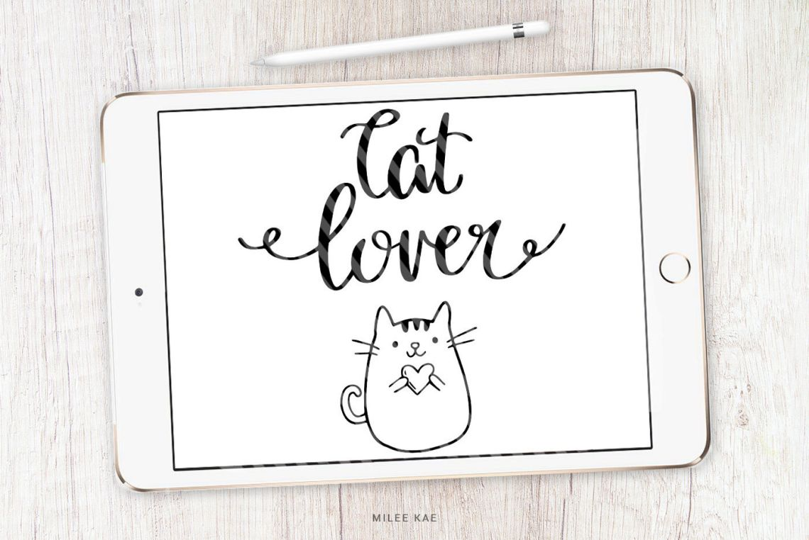 Download Cat lover SVG, cutting file and decal By MileeKae ...