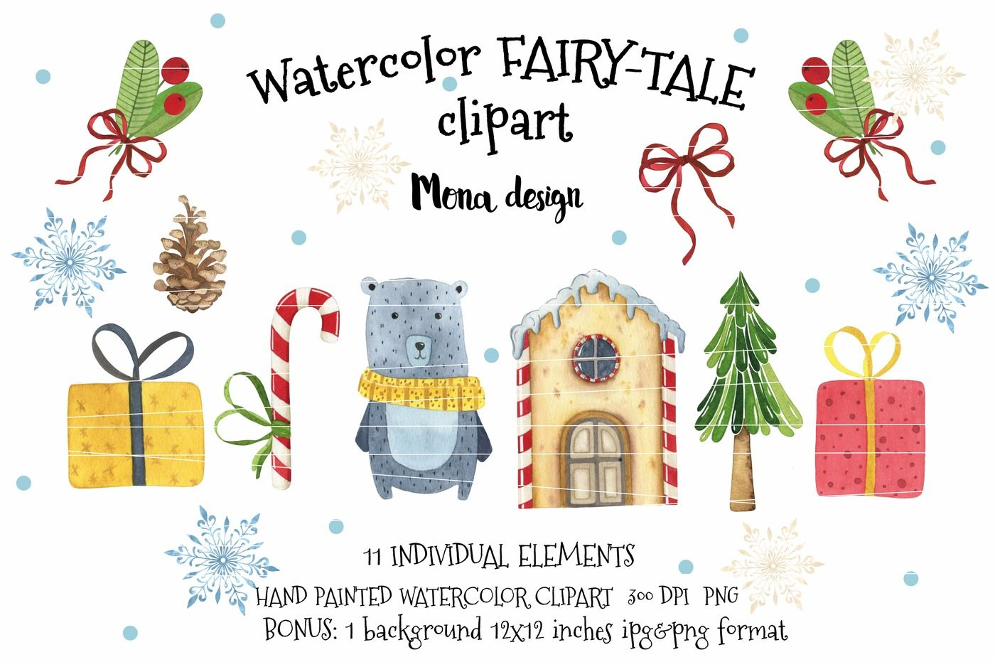 hight resolution of watercolor fairy tale clipart