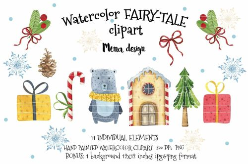 small resolution of watercolor fairy tale clipart
