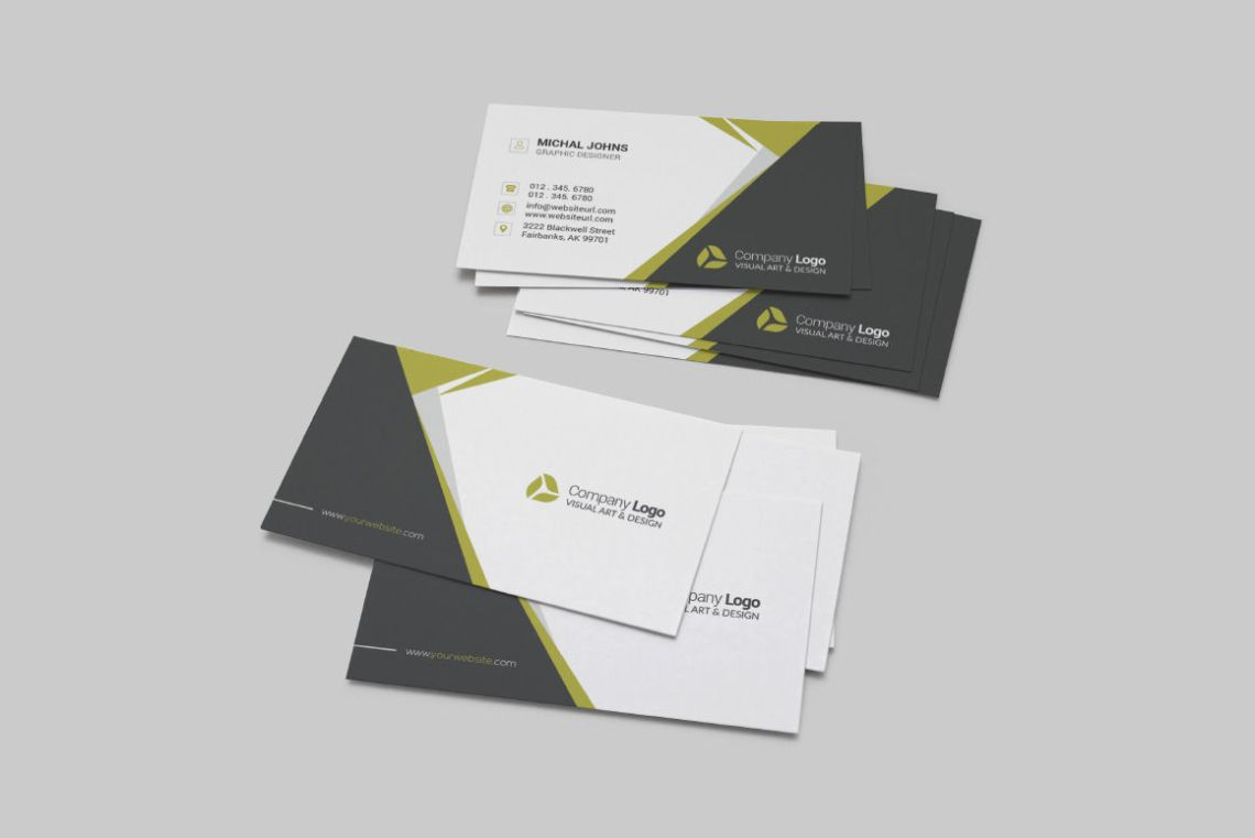 Download Business Card Mockup Psd Yellow Images