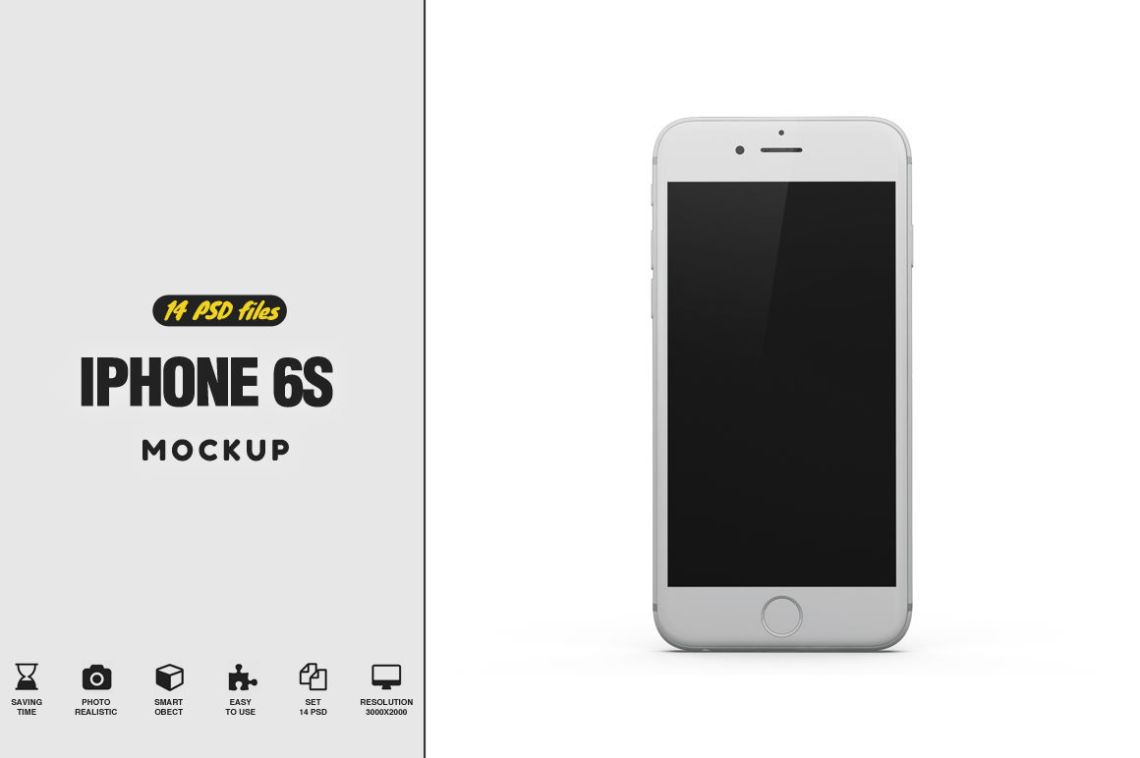 Download App Logo Iphone 6 Mockup Psd Yellowimages
