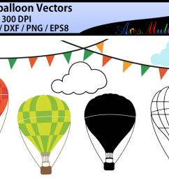 hot air balloon svg clipart hot air balloons  [ 1160 x 772 Pixel ]