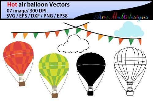 small resolution of hot air balloon svg clipart hot air balloons
