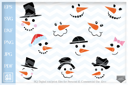 small resolution of snowman svg snowman faces svg christmas svg snow svg xmas svg cutting file winter clipart svg dxf eps png jpg pdf by blueberry hill