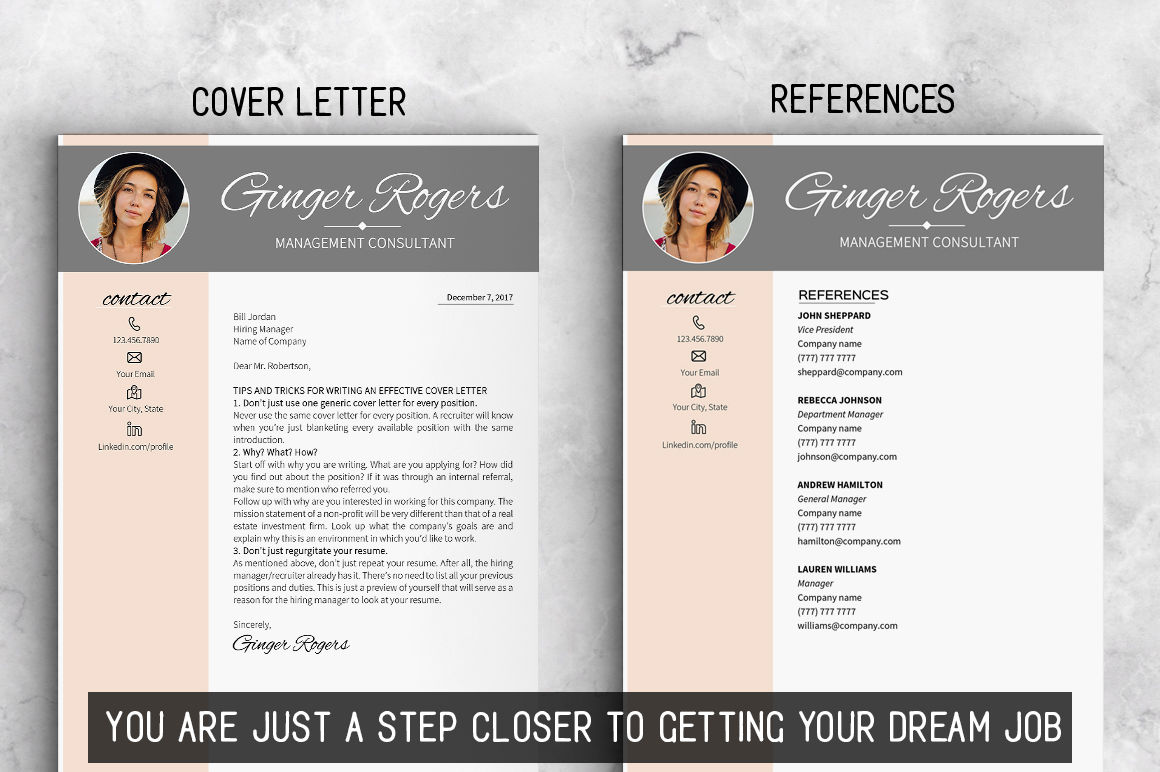 Modern Resume Template Download Feminine Resume Template Instant Download Modern Resume By