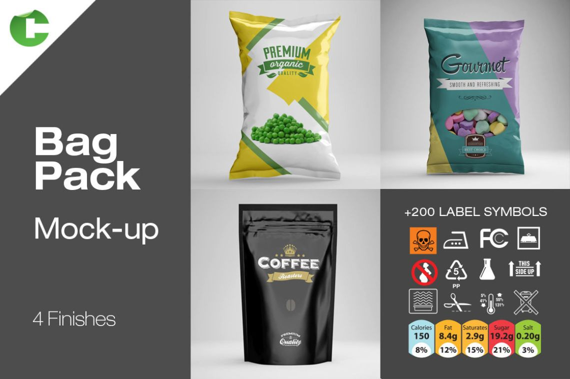 Download Yogurt 4 Pack Mockup Yellowimages