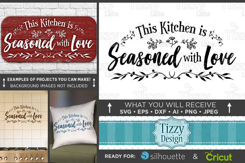 Download This Kitchen is Seasoned With Love Svg - Country Kitchen ...