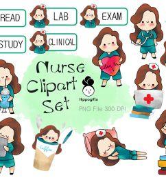 brown hair nurse clipart [ 1160 x 772 Pixel ]