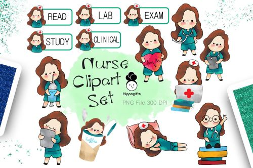small resolution of brown hair nurse clipart