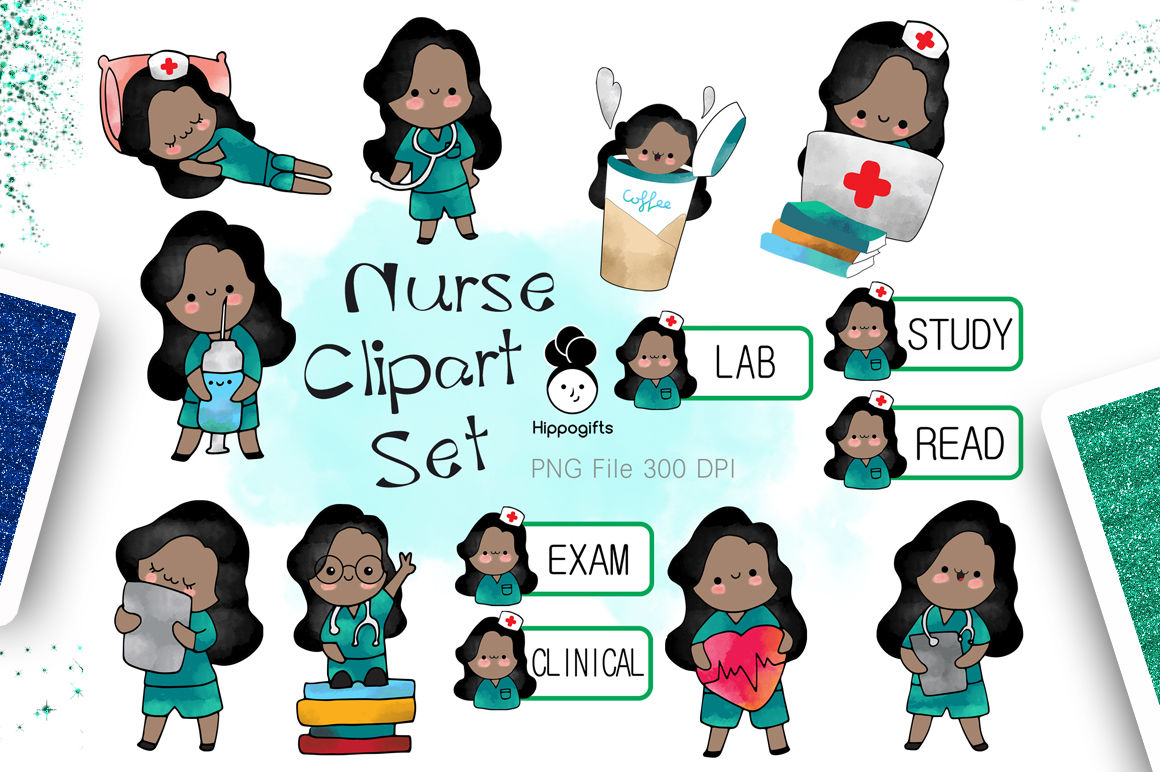 hight resolution of african american nurse clipart