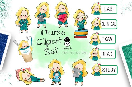 small resolution of blonde hair nurse clipart