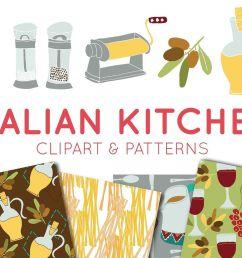 food clipart italian clipart digital paper italian food  [ 1160 x 772 Pixel ]