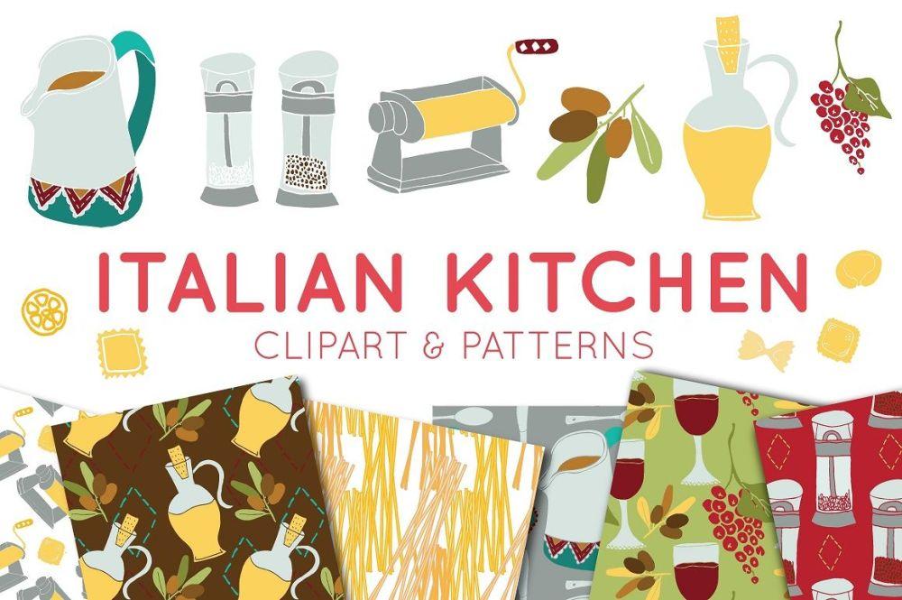 medium resolution of food clipart italian clipart digital paper italian food
