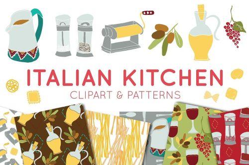 small resolution of food clipart italian clipart digital paper italian food