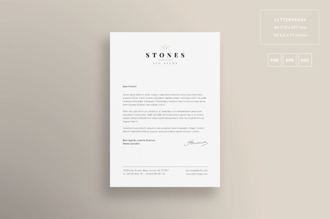 Download Letterhead And Business Card Mockup Psd Free Yellowimages