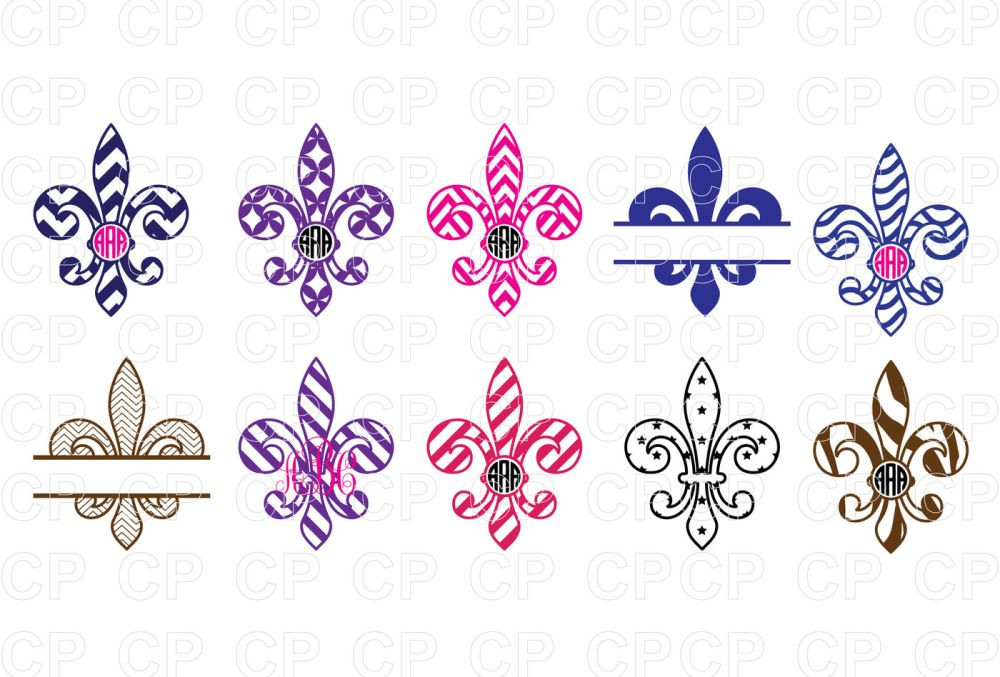 medium resolution of mardi gras bundle svg cut files fleur de