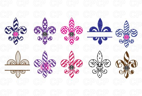 small resolution of mardi gras bundle svg cut files fleur de