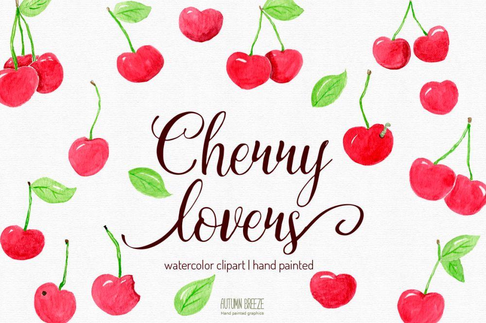 medium resolution of  watercolor cherry clipart