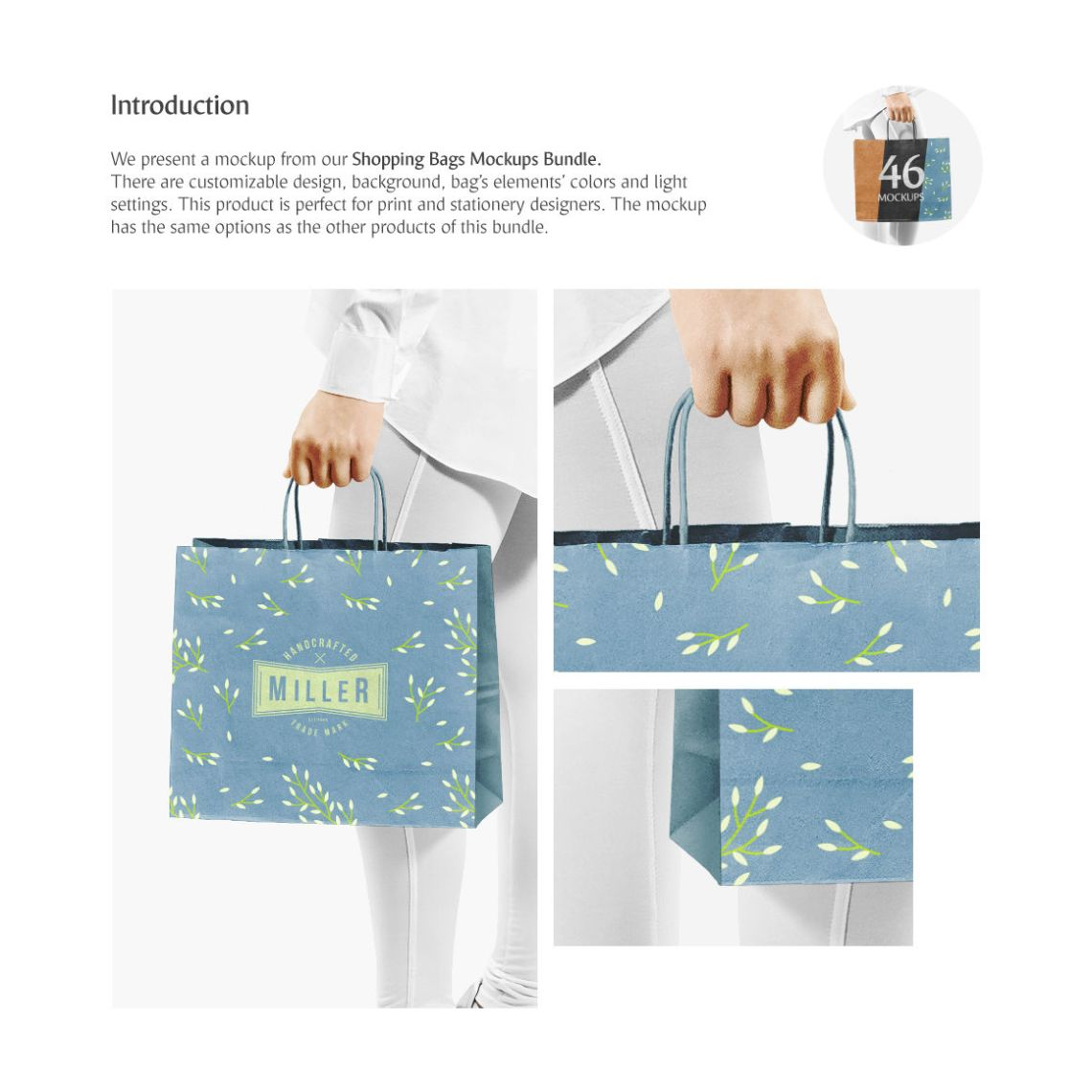 Download Kraft Bag Mockup Front View Yellowimages