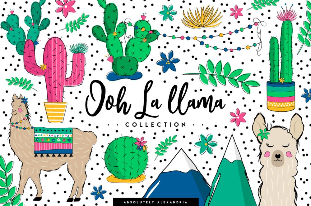 medium resolution of aa ooh la llama clipart illustrations and seamless