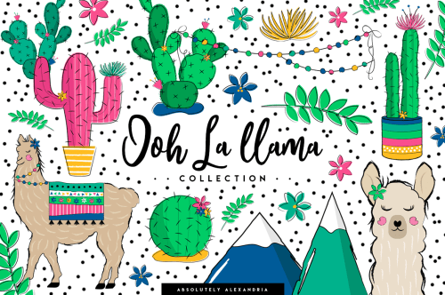 small resolution of aa ooh la llama clipart illustrations and seamless