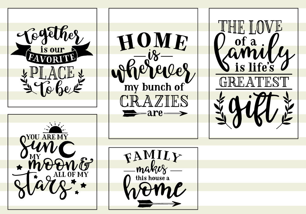 Download Family Love Quote SVG Cut Files Bundle By Caluya Design ...