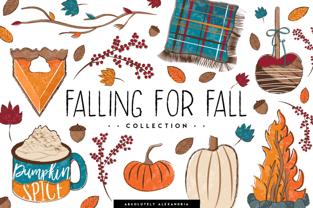 medium resolution of falling for fall clipart illustrations and seamless paper