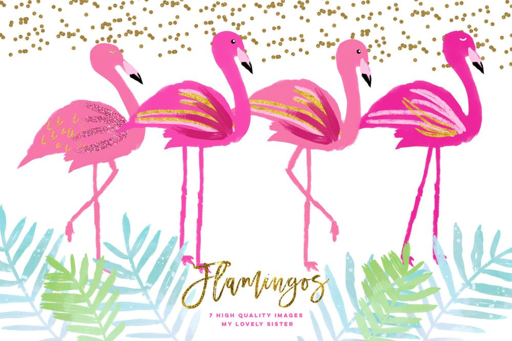 medium resolution of pink flamingo clipart scrapbooking cupcake toppers planner stickers