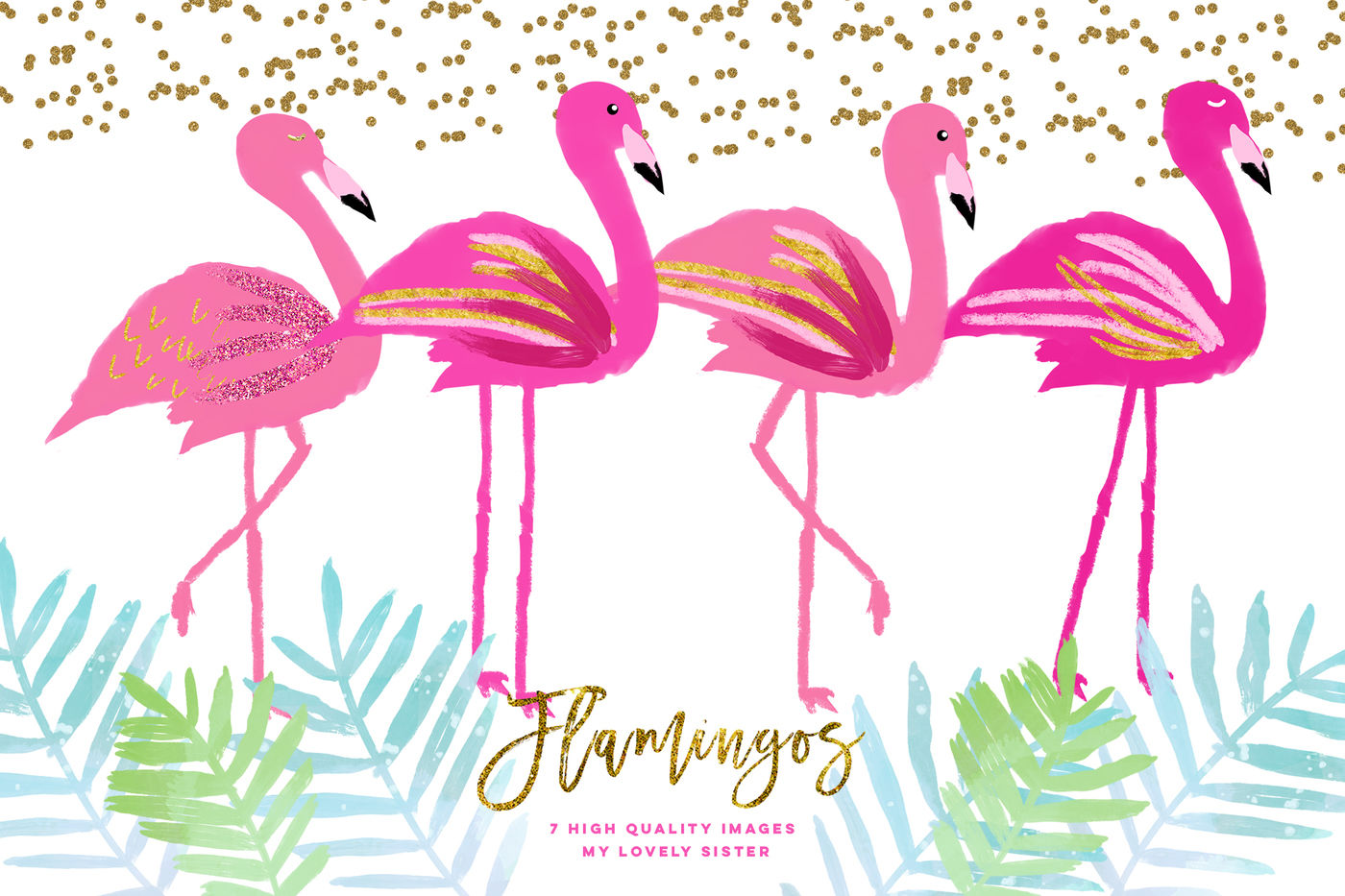 hight resolution of pink flamingo clipart scrapbooking cupcake toppers planner stickers