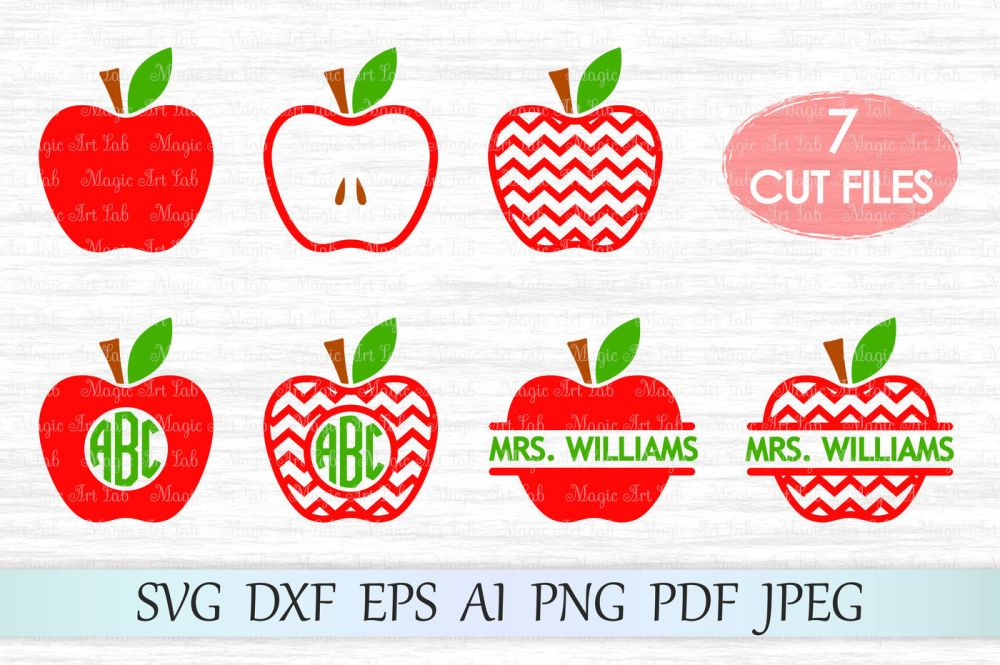 medium resolution of apple svg apple cut file chevron apple svg back to school clipart by magicartlab thehungryjpeg com