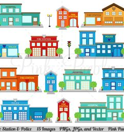 fire station and police clipart vectors [ 1400 x 1331 Pixel ]