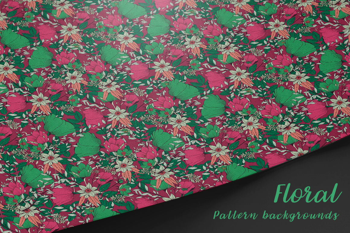 10 floral seamless pattern background Vol.2 By vito12 | TheHungryJPEG.com