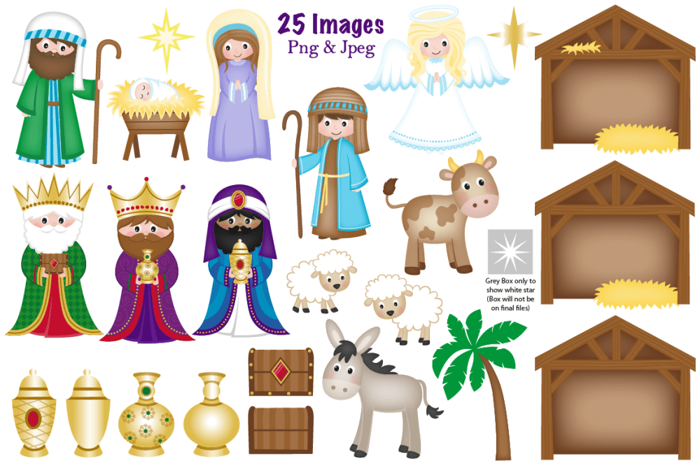 medium resolution of  christmas nativity clipart nativity scene graphics amp illustrations