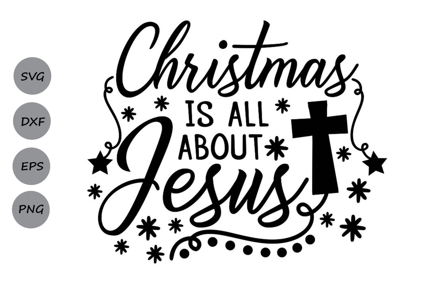 christmas is all about jesus svg, christmas svg, jesus svg