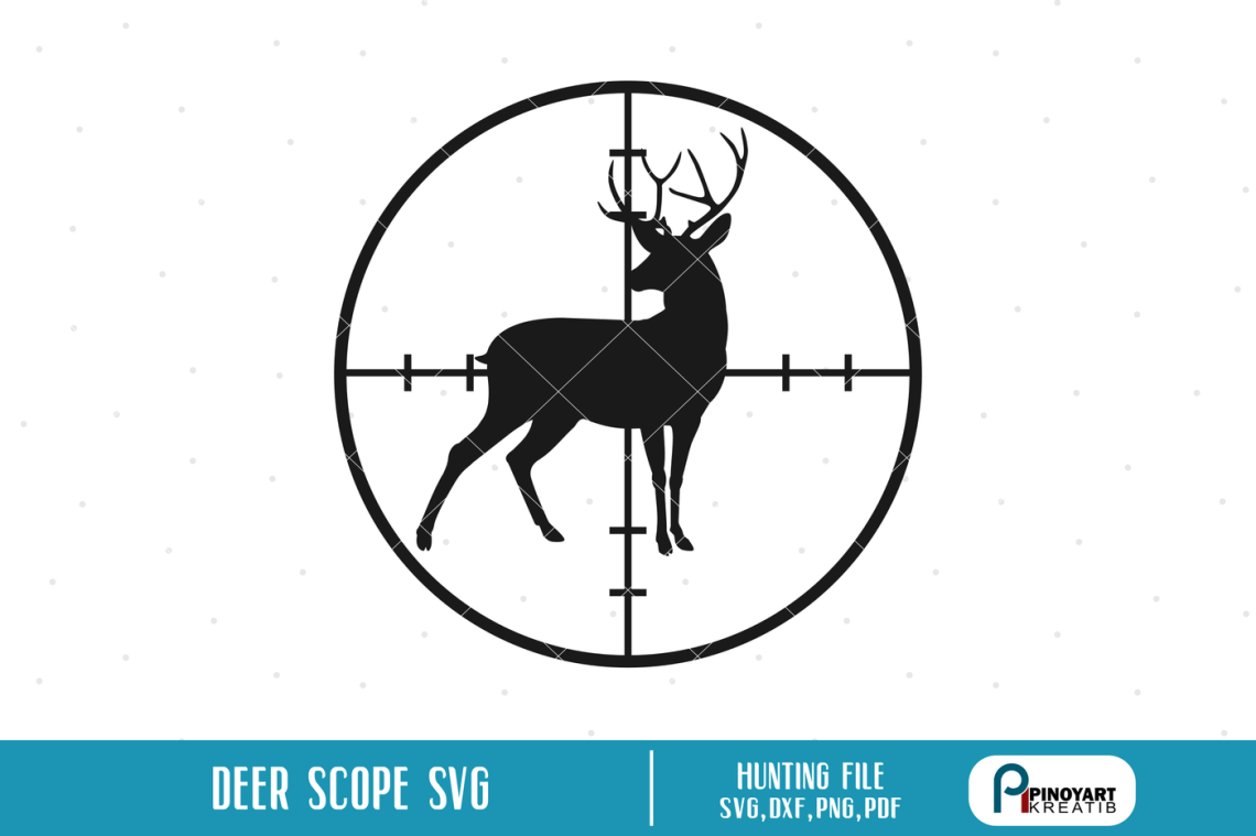 Download Deer in Scope svg, Deer Hunting svg, Deer svg, svg files ...