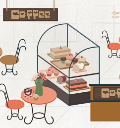 coffee shop 01 clipart png and vector graphics  [ 1400 x 931 Pixel ]