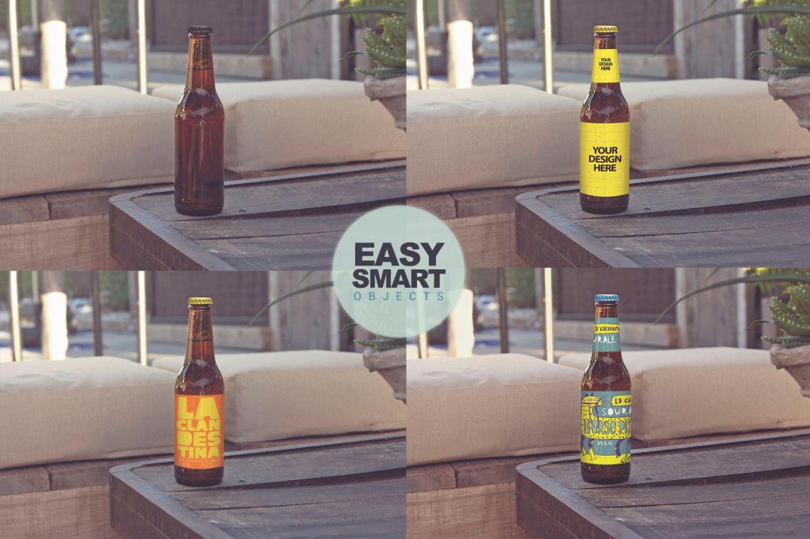 Download Amber Liquor Bottle Mockup Yellow Images